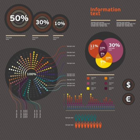 with sets of elements: Set of infographic elements  Illustration