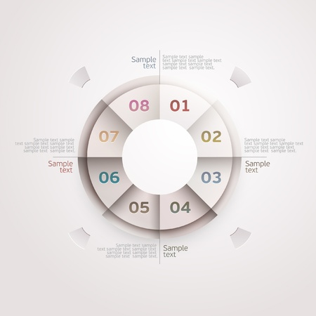 cut out paper: Design circle  Illustration