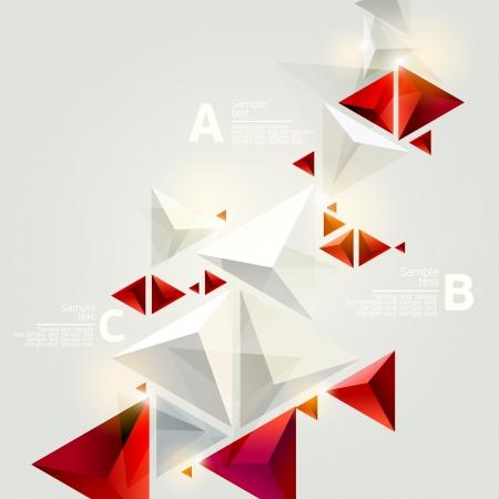 red cube: Sfondo astratto 3D Vettoriali