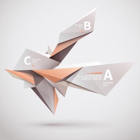 Background of 3d geometric shapes  Illustration