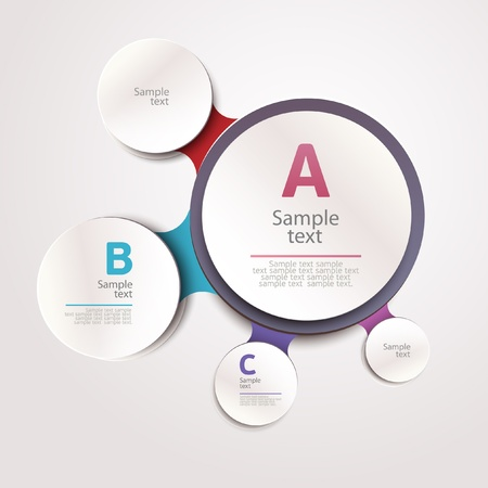 circles: Elements of infographics  Illustration