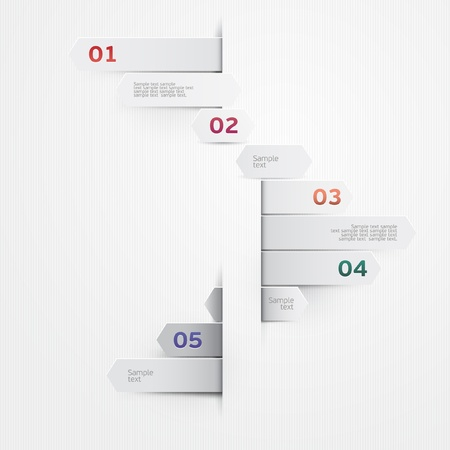 advertising signs: Elements of infographics  Illustration