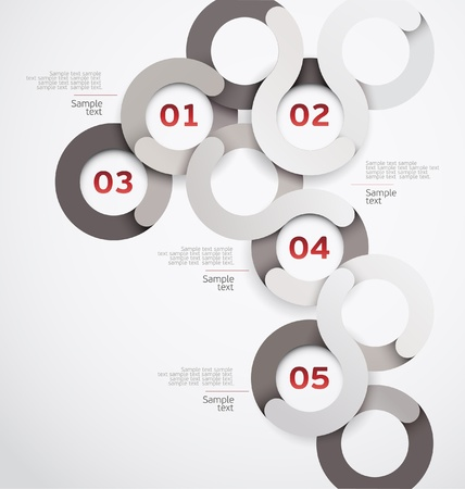 sample text: Design circle  Illustration