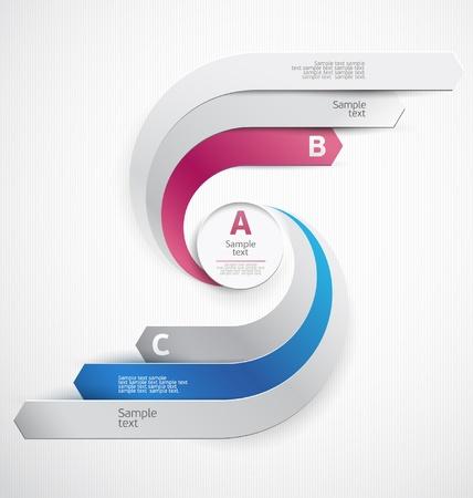 concept conceptual: Elements of infographics  Illustration