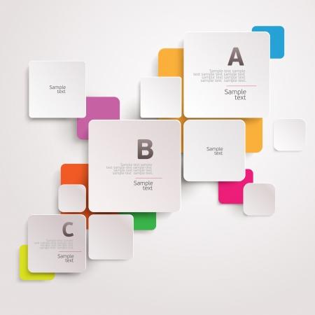 template: Modern colorful design Illustration