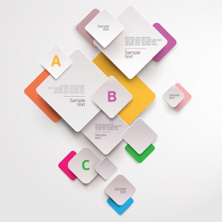 blank brochure: Modern colorful design Illustration