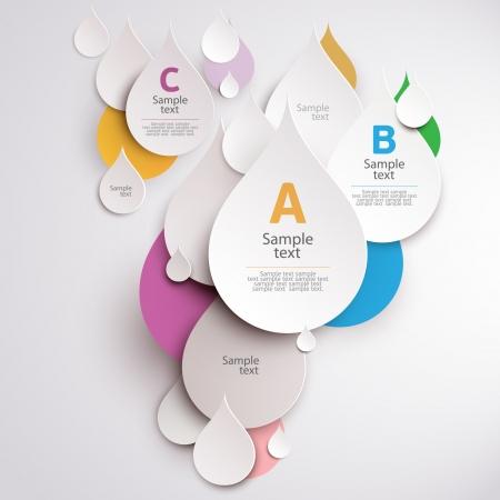 Design colorful drops  Vector