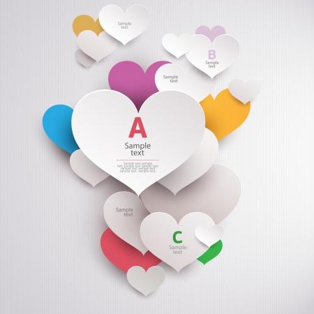 Colorful hearts Illustration
