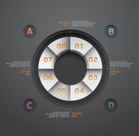 clean cut: Design circle  Illustration