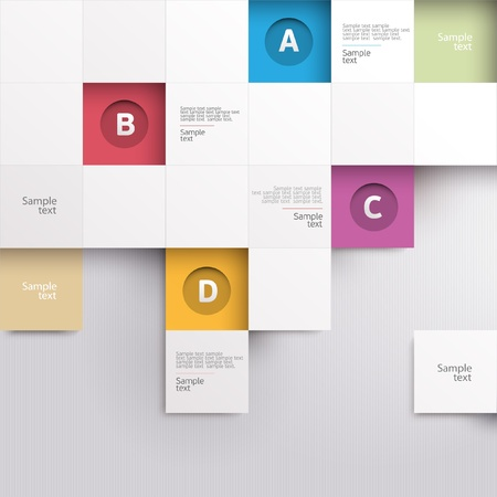 paper graphic: Modern colorful design Illustration