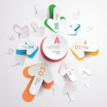 advertising space: White arrows
