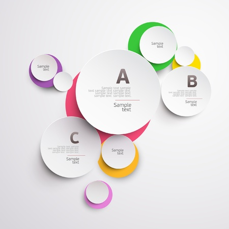 paper cut out: Design colorful circle