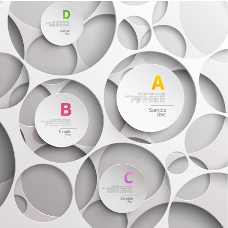 paper cut: Modern abstract ontwerp Stock Illustratie