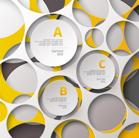 cut line: Abstract circle design   Illustration