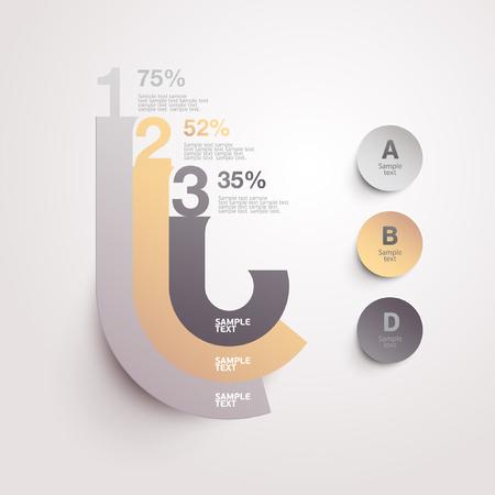 website layout: Elements of infographics  Illustration