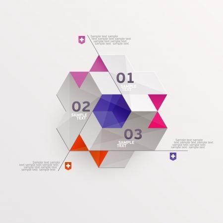 cubism: Modern colorful design Illustration