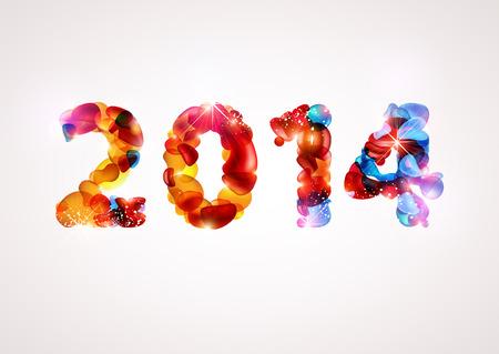 Happy new year 2014 Stock Vector - 22970835