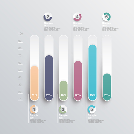 histogram: Infographics element