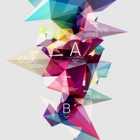 삼각형: 추상적 인 배경 인포 그래픽 일러스트