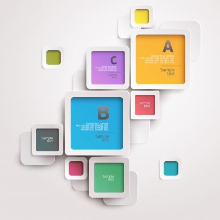 layout: Modern colorful design Illustration