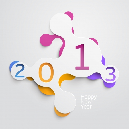new year poster: New year poster Illustration