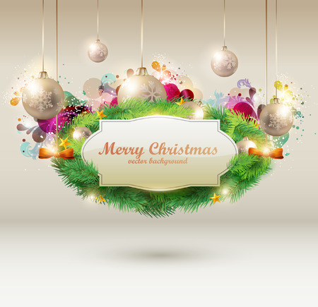 Christmas creative label Vector