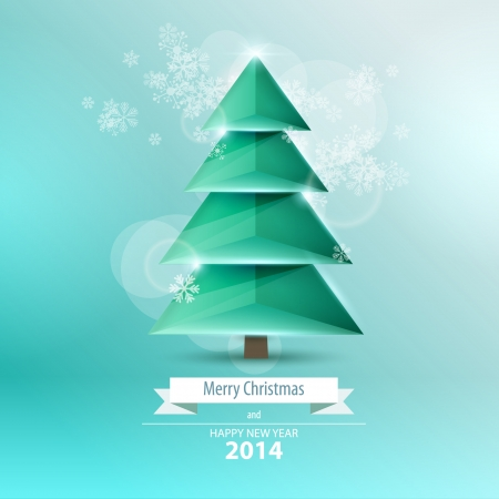 snippet: Vector christmas tree  Origami
