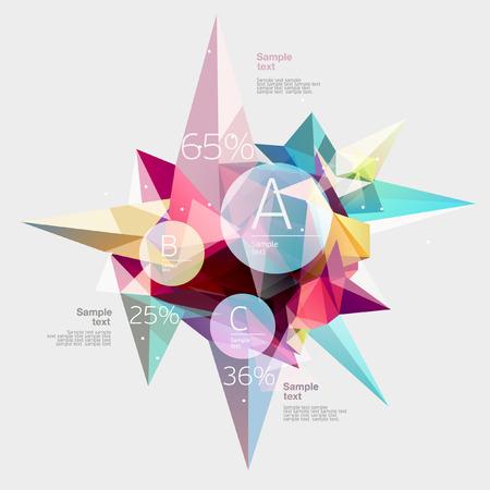 Infographics met abstracte achtergrond