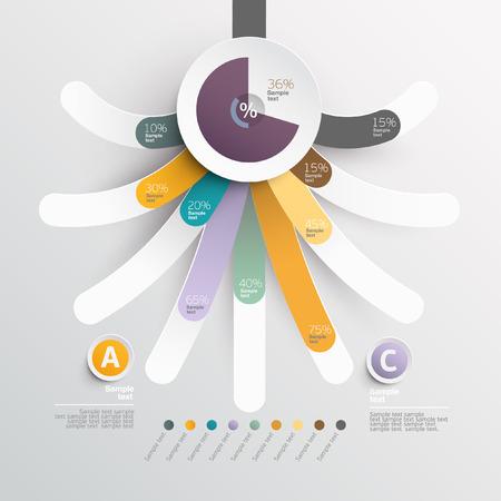 White elements Infographics