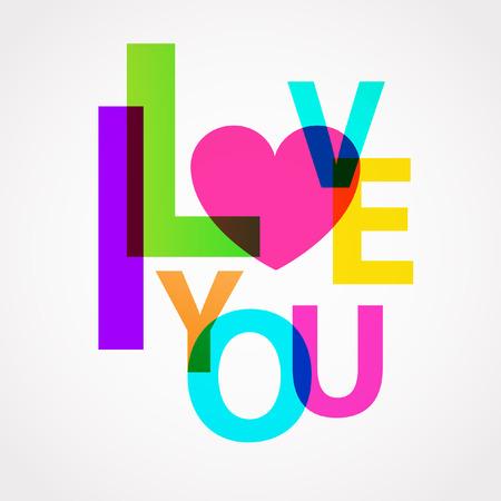 te amo: Te amo Vectores