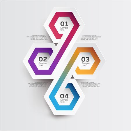 White element infographic Vector