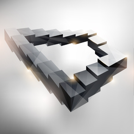 Eindeloze trap Vector Illustratie
