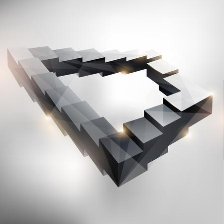 blake and white: Endless staircase