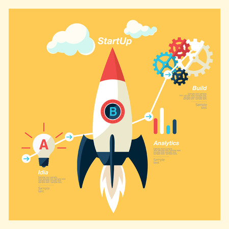 StartUp illustration Vector