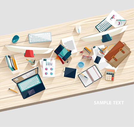 lighter: Workplace concept. Flat design.