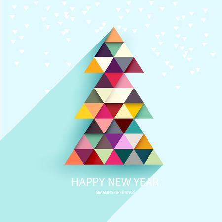 minimalista: Vector karácsonyfa. Illusztráció