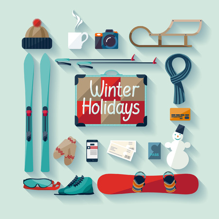 winter sport: Winter holiday