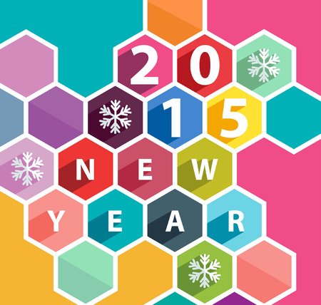 New year poster. Vector