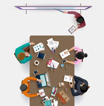 Business presentation. Flat design. Vektoros illusztráció