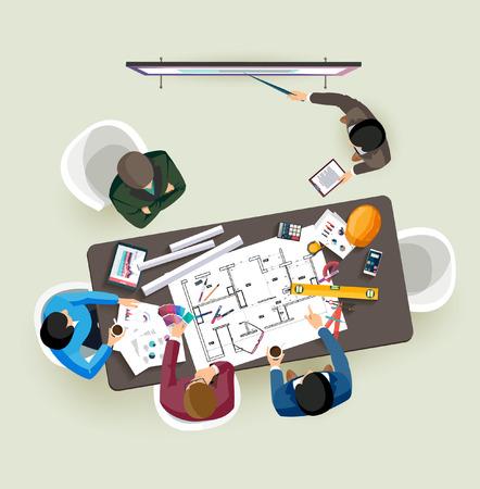 Business-Präsentation. Flache Bauweise. Standard-Bild - 44238231