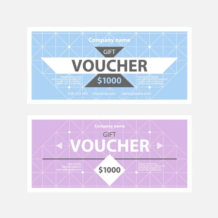 price label: Template gift voucher of different colors.