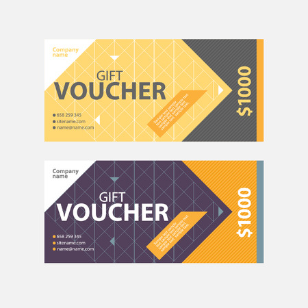 vouchers: Template gift voucher of different colors.