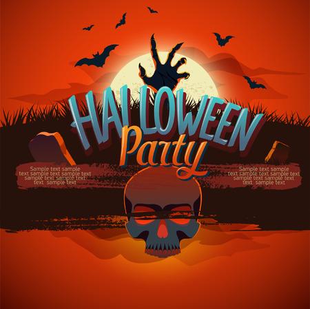 human bones: Halloween party with zombie and human bones