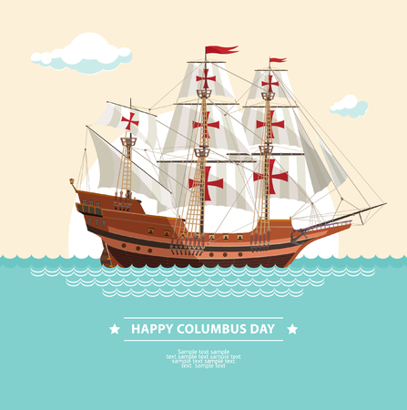 columbus: happy columbus day Illustration