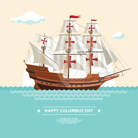 columbus: happy columbus day Illustration