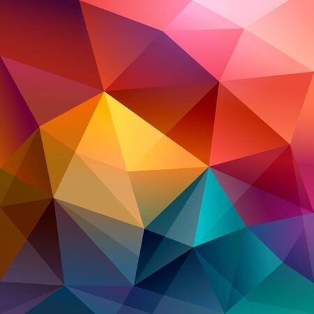 multiple image: Abstract polygon background