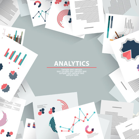 Analysis information and brainstorming. Flat design. Stok Fotoğraf - 47833022