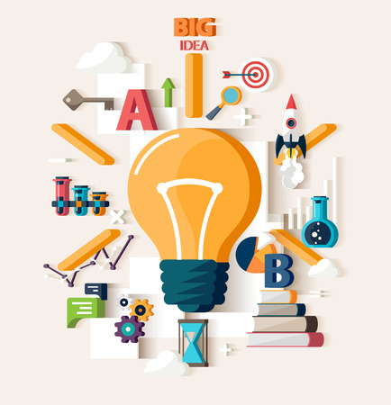 creative idea: Big Idea concept. Flat design. Illustration