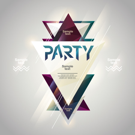 poster: Abstract background for party poster