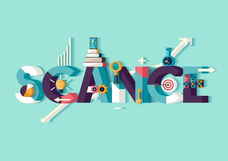 Wetenschap concept.Typographic poster.